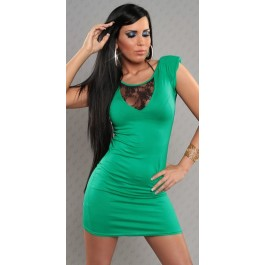 Minidress_with_laced_decollete_green