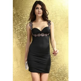 captivating-flower-applique-stretch-bodycon-dress-black-lc2908-2-10099