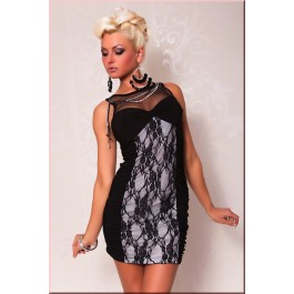 elegant_evening_club_dress_with_lace_black_white
