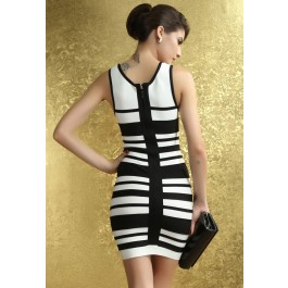 fashionable-black-white-striped-tank-bandage-dress-lc28064-10958