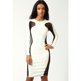 lily-mesh-exposed-top-and-side-bodycon-dress-white-lc6156-1