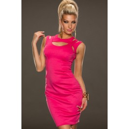pink-fantastic-neck-around-design-sexy-midi-dress-lc21290-3