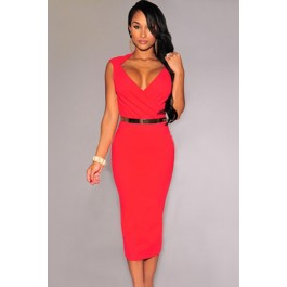red-faux-wrap-belted-fashion-midi-dress-lc6973-3