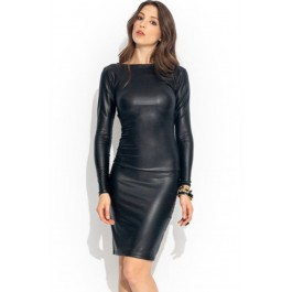 reversible-faux-leather-midi-dress-lc6429