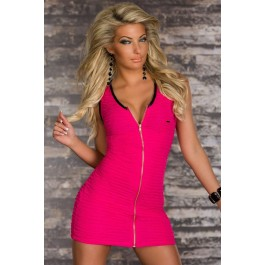 roseo-stretch-mini-dress-with-continuous-zip-lc2956-1
