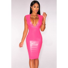 rosy-faux-leather-plunge-v-neck-midi-dress-lc60507-2