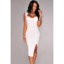 sexy-white-faux-leather-key-hole-back-padded-midi-dress-lc6818-1