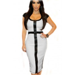 white-black-casual-office-cocktail-party-bodycon-midi-dress-lc6514